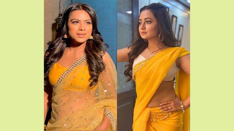 Naagins Nia Sharma And Rashami Desai Don Matching Yellow Sarees; Fash Verdict - EPIC FAIL