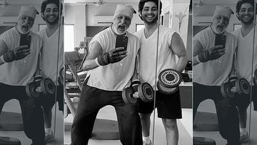 77-Year-Old Amitabh Bachchan Hits The Gym With 19-Year-Old Grandson Agastya Nanda With Much Sass; Proves Age Is A State Of Mind