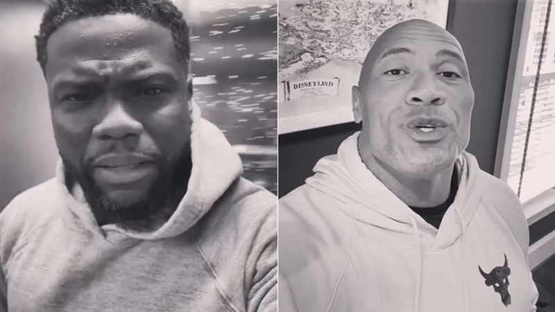 Kevin Hart Wishes Dwayne The Rock Johnson On His Birthday Calling Him 'Big, Bald, Unattractive And Constipated'; Lotta Love, Eh?