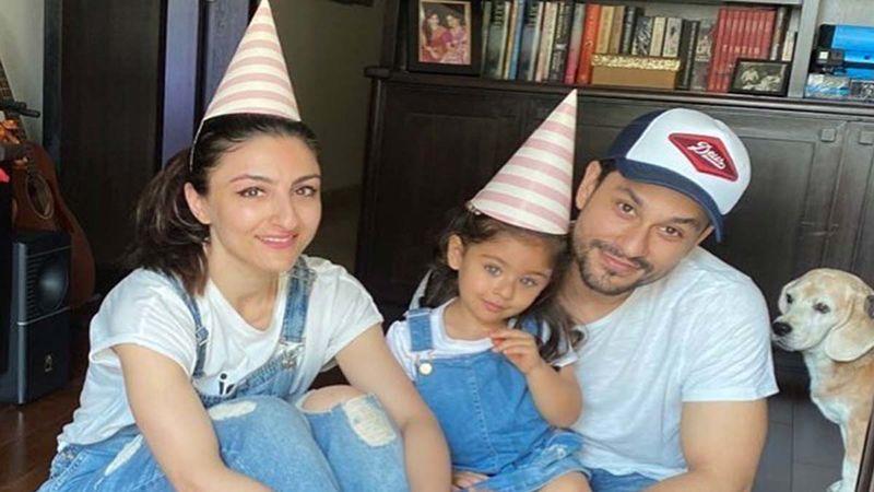 Soha Ali Khan's Little One Inaaya Naumi Practices Lotus Asana With Daddy Kunal Kemmu; Mommy Says She's Prepares For World Yoga Day