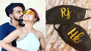 Hina Khan And Boyfriend Rocky Jaiswal Get Customised Masks For 'Him And Her'; Trend In The Making?