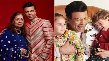 Karan Johar Leaves Mumbai For Goa; Mother Hiroo Johar, Twins Yash Johar, Roohi Johar And House Staff Accompany The Filmmaker