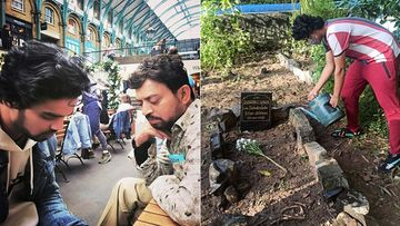 Babil Addresses Fans' Disappointment Over 'Poorly Maintained' Grave Of Irrfan Khan By Sharing Pictures; Says, 'Baba Liked It Wild'
