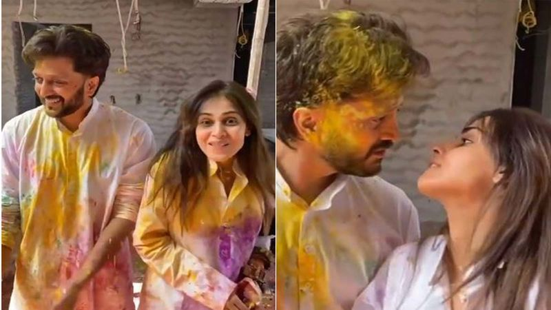 Holi 2021: Genelia D'Souza Shares A Glimpse Of Her 'Khatta Meetha' Celebration With Riteish Deshmukh; Says 'Find Your Own Way To Make Festivals Special'