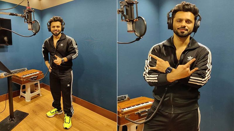 Bigg Boss 14's Rahul Vaidya Is Beaming With Joy; Singer Clicked Recording His Next Single