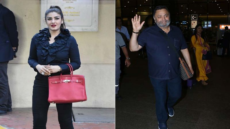Raveena Tandon Drops A Throwback Picture From Late Rishi Kapoor's Wedding; Actress Looks Cute As A Button Posing With The Newlyweds And Her Parents