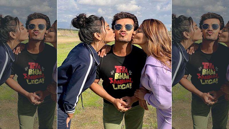 Khatron Ke Khiladi 11: Arjun Bijlani Is Showered With Kisses By Nikki Tamboli And Sana Makbul In These Unseen Candid Shots From Cape Town