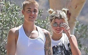 Snapped: Justin Bieber on a casual stroll with 17-year-old Sofia Richie