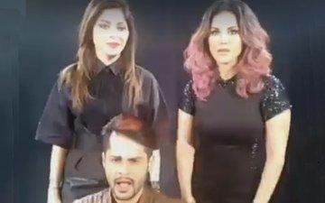 Ou host Shardul Pandit with the gorgeous Sunny Leone and Kanika Kapoor