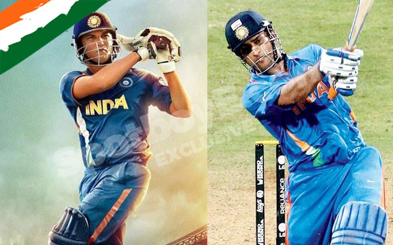 Sushant shoots for 2011 World Cup Final, courtesy Dhoni