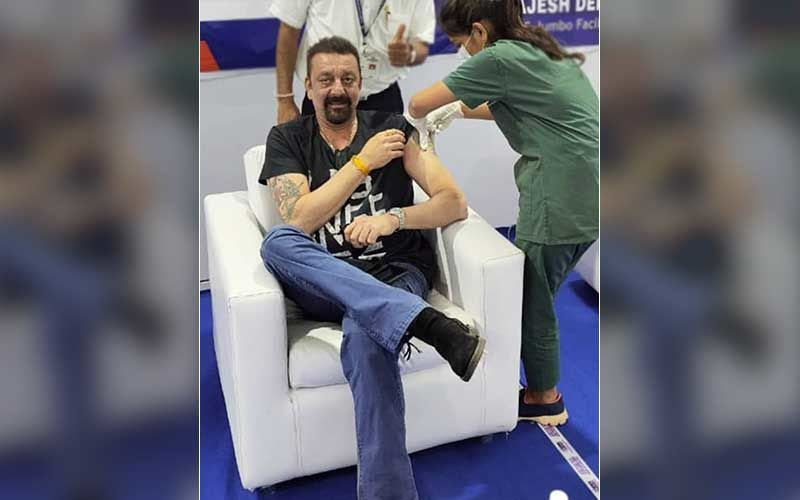 Sanjay Dutt Receives The COVID-19 Vaccine Jab; Drops A Smiling Pic As He Takes The First Shot