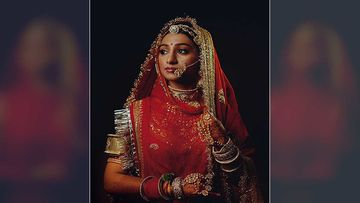Mohena Kumari Shares Her First Picture As A Bride; The Actress Looks Ethereal In Her Red Wedding Attire