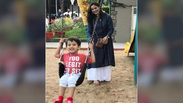Shweta Tiwari Shares A BTS Picture From The Sets Of Mere Dad Ki Dulhan With Son Reyansh Kohli