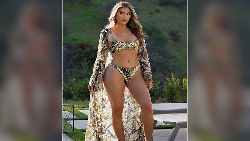 Larsa Pippen Flaunts Her Smoldering Body In Gold Bikini On A Sunny Day; We Want To Dive Into A Pool RN