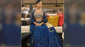 Hina Khan's Blue Lehenga Is Oh-So-Dreamy; Bridesmaids Should Bookmark It ASAP