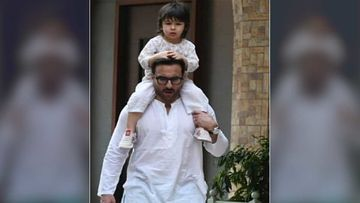 Taimur Marks Primetime News Debut With Saif Ali Khan; Actor Says Tim Is Positive Like Buddha Before He Runs Away For Potty Time -WATCH