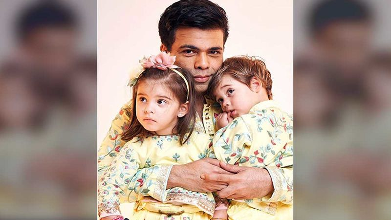 Karan Johar's Twins Give Him A Reality Check Once Again; The Filmmaker Thinks Of Reassessing His Fashion Choices-WATCH