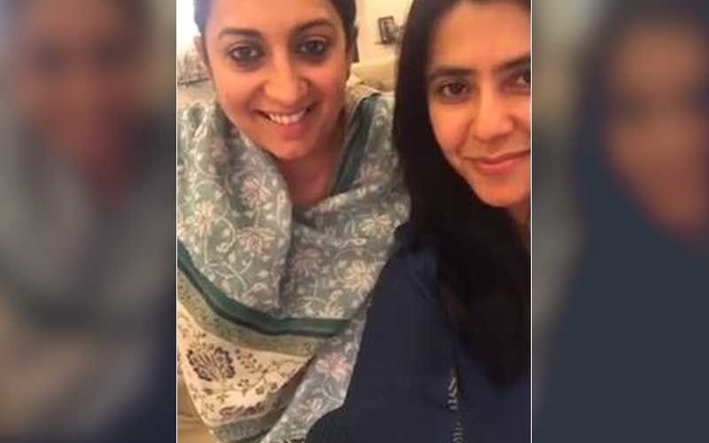 Ekta Kapoor Puts An Appreciation Post For BFF Smriti Irani; Shares UNSEEN Videos Of Union Minister From Miss India Days