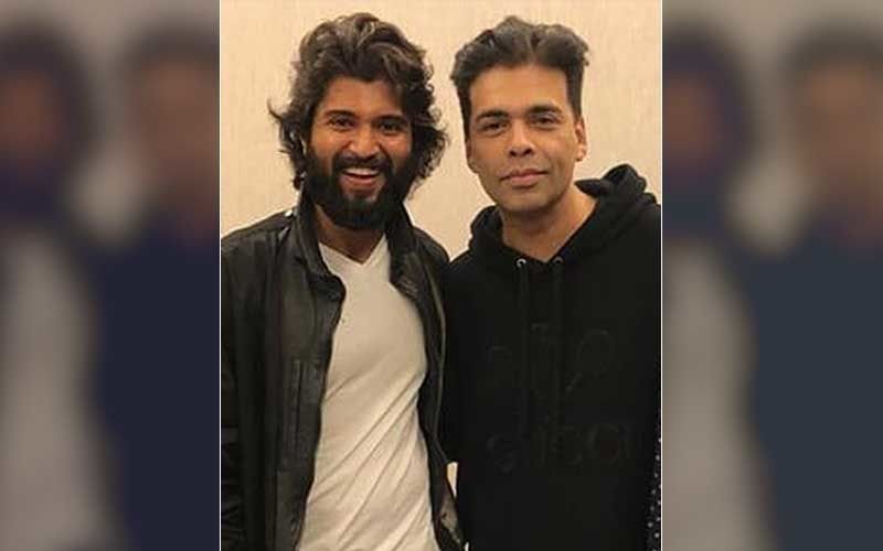 Karan Johar Gives Sneak-Peek Of His Gift From Liger Star Vijay Deverakonda; Filmmaker Gets A Sexy Denim Jacket With Initials 'KJ'