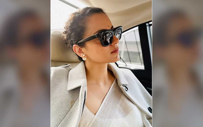 Kangana Ranaut Leaves Bandra Police Station After Hours Of Grilling; Shares A Pic As She Heads To Bhopal For The Shoot Of Film Dhaakad
