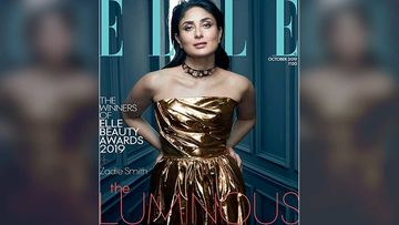 Kareena Kapoor Khan Looks Luminous In Gold As She Strikes A Pose For A Magazine Cover