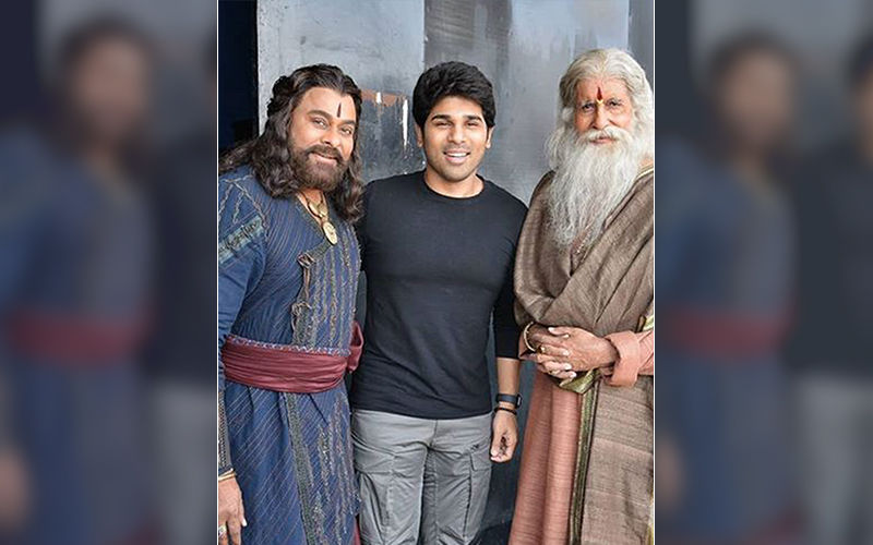 Sye Raa Narasimha Reddy: Allu Sirish Shares Special Moment With Legends Amitabh Bachchan And Chiranjeevi From The Sets