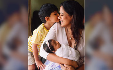 Sameera Reddy Shares An Endearing Picture Of Her 'World' With Her Kids Hans And Nyra