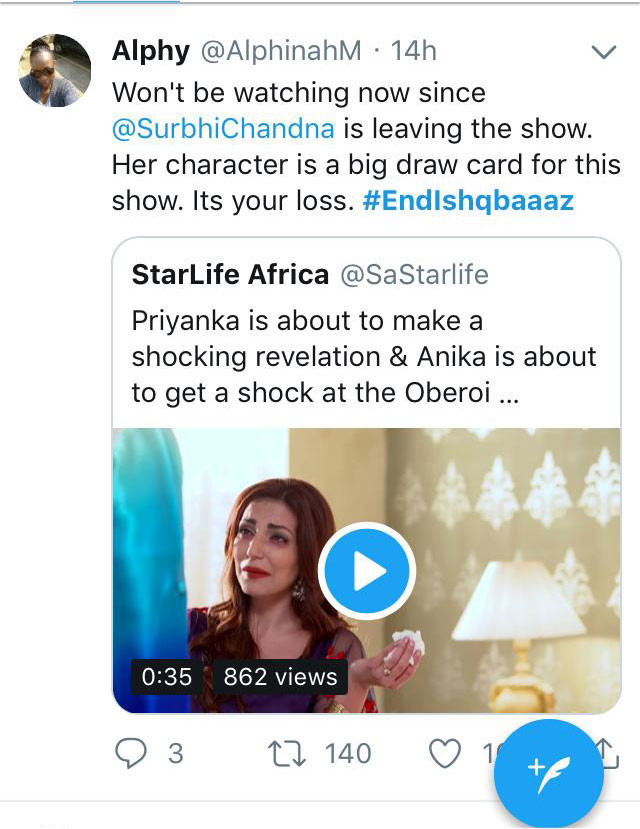 fans comment on surbhi chandana exit