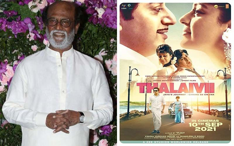 Thalaivar Rajnikanth Praises Thalaivii, Appreciates The Director And The Entire Cast To Pull Off Such A Difficult Film