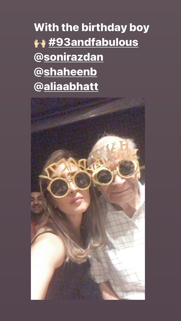 Riddhima Kapoor Sahni s Instagram stories