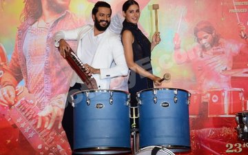 Riteish, Nargis hit the right note at Banjo Trailer Launch