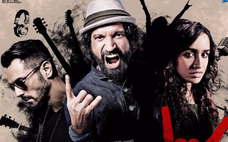 Farhan, Arjun, Shraddha Go Grunge In Rock On 2 Poster
