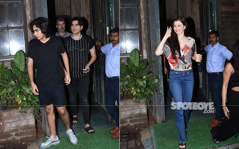 Arbaaz Khan Spends His Sunday With Girlfriend Giorgia Andriani And Son Arhaan