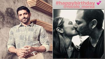 Farhan Akhtar's Ex-Wife Adhuna Bhabani Is Drenched In Love; Shares A Kissy Picture With Partner Nicolo Morea On His Birthday