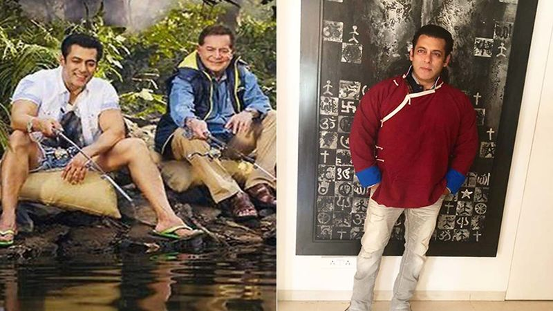 Salman Khan Shares Throwback 'Camping In The Jungle' Pic With Salim Khan On His 84th Birthday