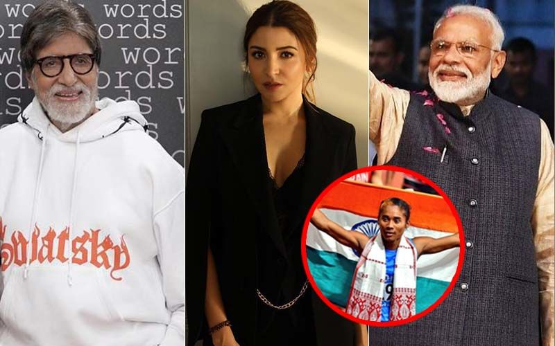 Narendra Modi, Amitabh Bachchan, Anushka Sharma & More Applaud Hima Das For Winning 5 Gold Medals In 20 Days