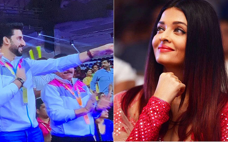 Aishwarya Rai Cheers For Abhishek Bachchan And His Kabaddi Team; Hubby Calls Her His 'Lucky Charm'