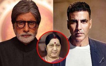 Sushma Swaraj Passes Away:  Amitabh Bachchan And Akshay Kumar Mourn Her Demise, Pay Tribute To Former External Affairs Minister