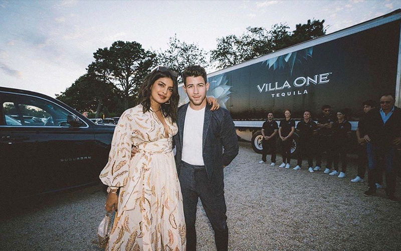Priyanka Chopra Jonas Captured In A Playful Mood At Hubby Nick Jonas' Liquor Brand Launch Party