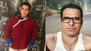 Salman Khan Celebrates His Bodyguard's Birthday With Much Gusto On Sets, Avoids Eating Cake