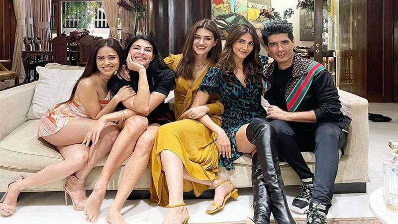 Happy New Year 2021: Janhvi Kapoor, Jacqueline Fernandez, Kartik Aryan, Vaani Kapoor, Kriti Sanon Have A Dinner Date At Manish Malhotra's Gorgeous House - INSIDE PICS