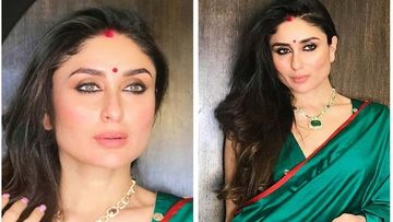 Kareena Kapoor Khan Goes Desi In A Green Silk Saree, Wears Vermilion And A Red Bindi; #WayBackWednesday
