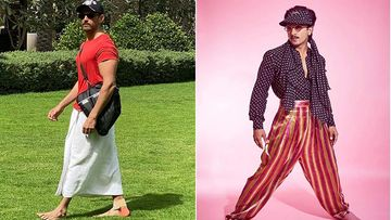 Hrithik Roshan Pairs T-Shirt With A Lungi, Credits Ranveer Singh For His Fashion Inspiration