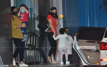 Coronavirus Lockdown: Sunny Leone Gets Clicked By The Paparazzi With Daniel Weber And Kids In Masks