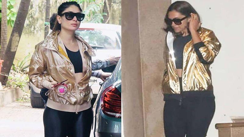 Deepika Padukone Or Kareena Kapoor Khan- Who Rocked The Golden Bomber Jacket Better?