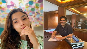 When Alia Bhatt Made Manish Malhotra Go Down On His Knees With A Pair Of Scissors - PIC Inside