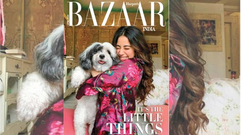 Janhvi Kapoor Cuddles Up With Her Pooch On The Cover Of Harper's Bazaar Clicked By Sister Khushi Kapoor Amidst Lockdown; We Like