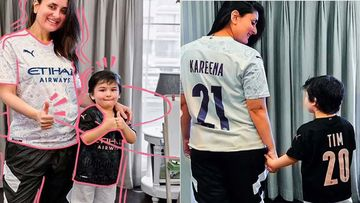 Kareena Kapoor Khan And Taimur Ali Khan Cheer For Their Favourite Football Team In Fan Jerseys; Bebo's Adorable Bump Is Unmistakable