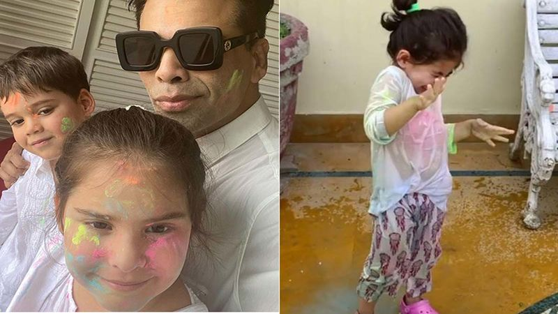 Happy Holi 2021: Witness Karan Johar's Twins- Yash And Roohi And Soha Ali Khan's Daughter Inaaya Naumi Kemmu's Colourful Moments
