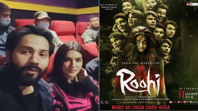 Varun Dhawan And Kriti Sanon Watch Janhvi Kapoor Starrer Roohi In Arunachal Pradesh, Urge People To Visit Theatres To Watch The Movie